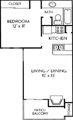 1 Bedroom 1 Bathroom Apartment for rent at Cape Cod in San Antonio, TX