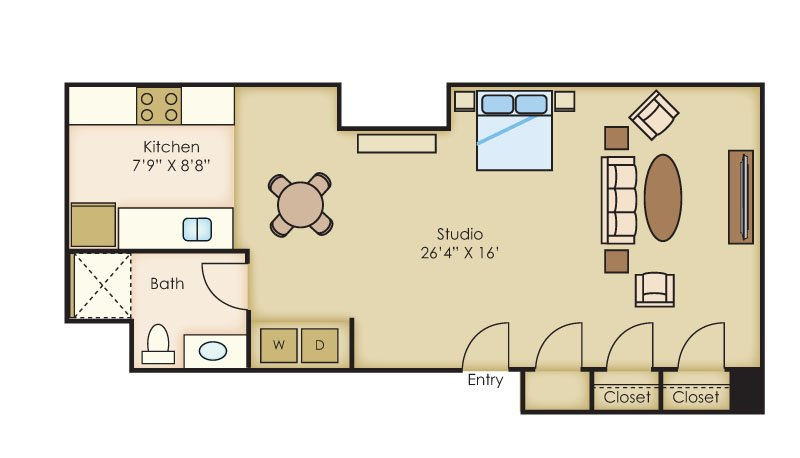 1 Bedroom 1 Bathroom Apartment for rent at The Cannery Lofts in Dayton, OH