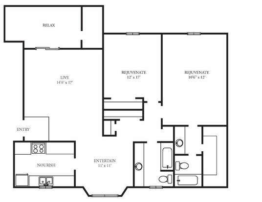 2 Bedrooms 2 Bathrooms Apartment for rent at Woodland Village in Columbia, SC