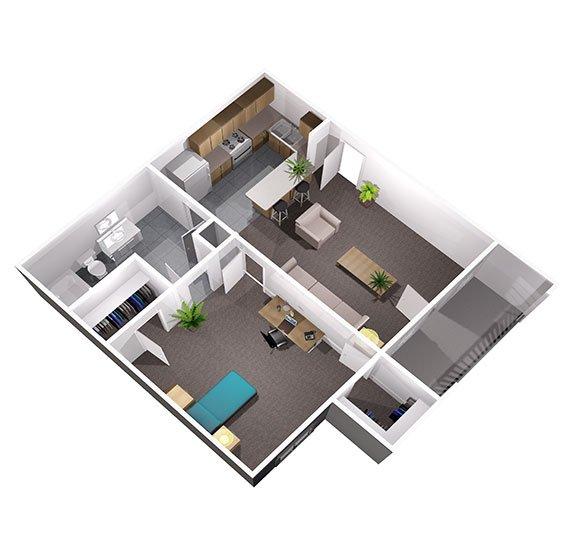 1 Bedroom 1 Bathroom Apartment for rent at University Oaks in San Antonio, TX