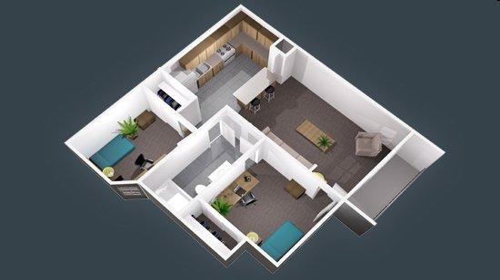 2 Bedrooms 1 Bathroom Apartment for rent at University Oaks in San Antonio, TX