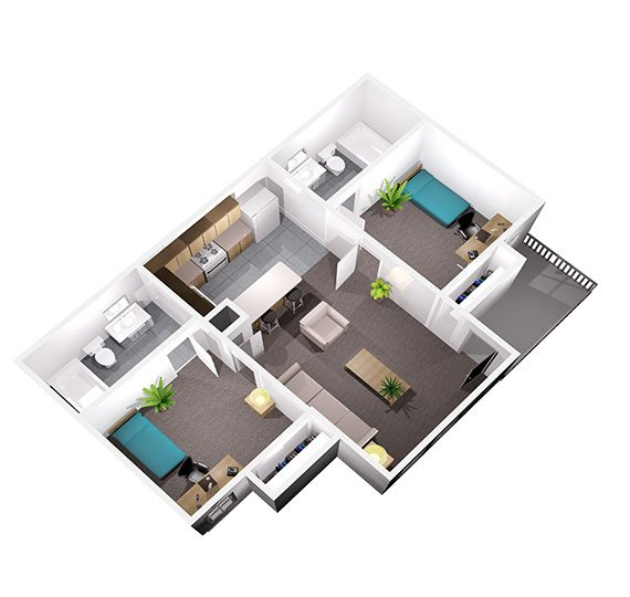 2 Bedrooms 2 Bathrooms Apartment for rent at University Oaks in San Antonio, TX