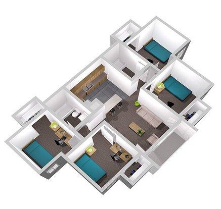 4 Bedrooms 2 Bathrooms Apartment for rent at University Oaks in San Antonio, TX