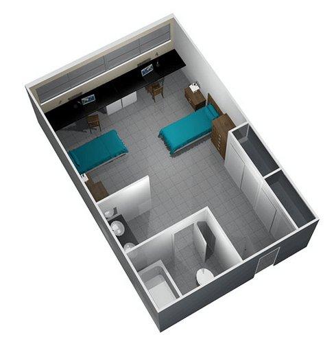 Studio 1 Bathroom Apartment for rent at Chisholm Hall in San Antonio, TX