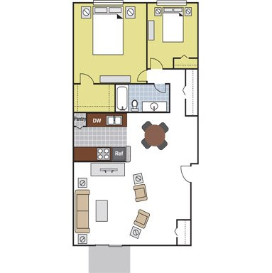 2 Bedrooms 1 Bathroom Apartment for rent at Arbor Terrace in Arlington, TX