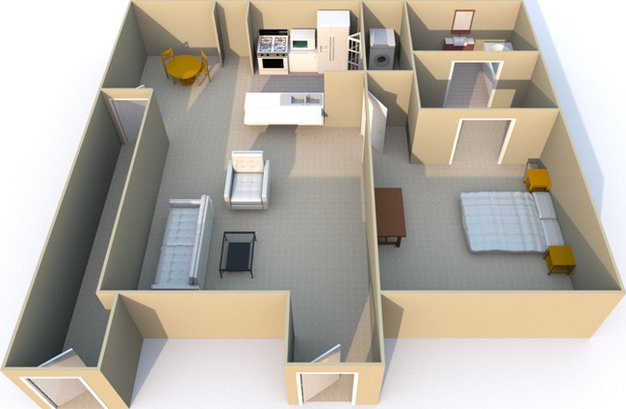 1 Bedroom 1 Bathroom Apartment for rent at Retreat At Mesa Hills in El Paso, TX