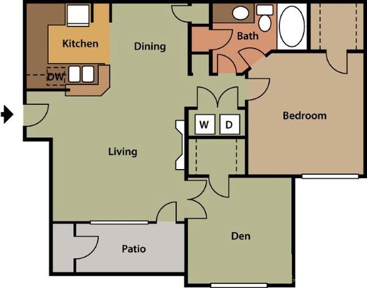 2 Bedrooms 1 Bathroom Apartment for rent at The Park At Steele Creek Apartment Homes in Charlotte, NC