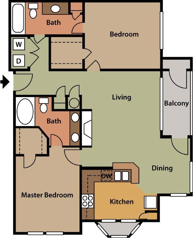 2 Bedrooms 2 Bathrooms Apartment for rent at The Park At Steele Creek Apartment Homes in Charlotte, NC