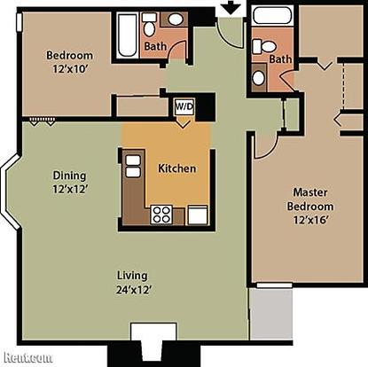 2 Bedrooms 2 Bathrooms Apartment for rent at Bexley House Apartments in Columbus, OH
