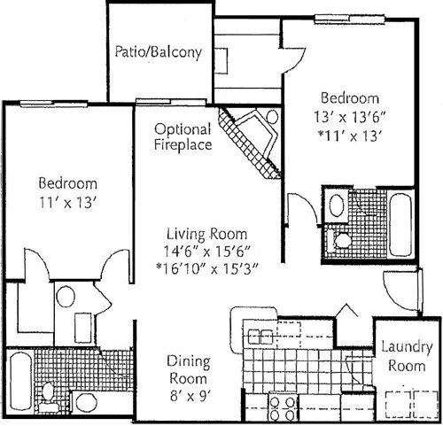 2 Bedrooms 2 Bathrooms Apartment for rent at Runaway Bay in Columbus, OH