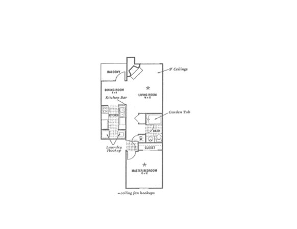 1 Bedroom 1 Bathroom Apartment for rent at Whittier Woods Apartments in Fairborn, OH