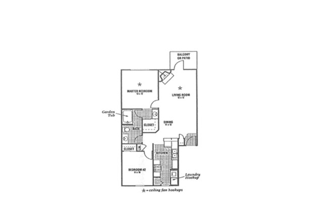 2 Bedrooms 2 Bathrooms Apartment for rent at Whittier Woods Apartments in Fairborn, OH