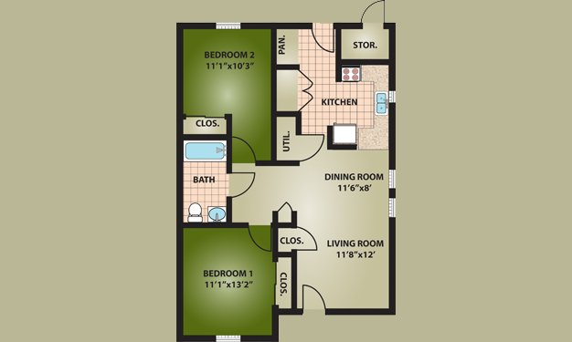 2 Bedrooms 1 Bathroom Apartment for rent at Faith Village in Columbus, OH
