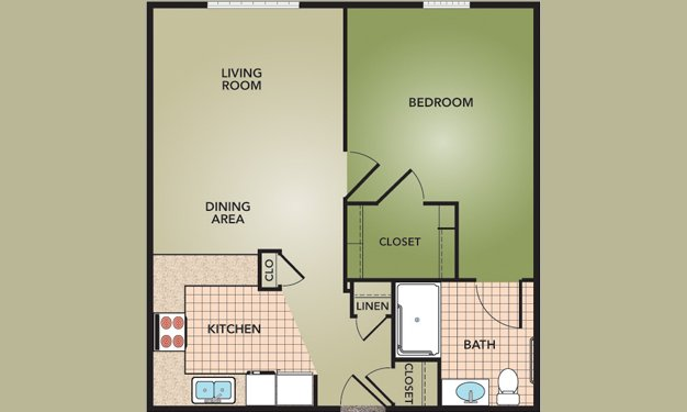 1 Bedroom 1 Bathroom Apartment for rent at Fieldstone Court Homes in Columbus, OH