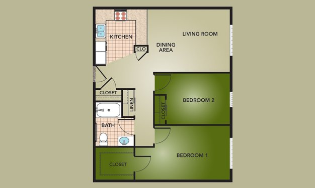 2 Bedrooms 1 Bathroom Apartment for rent at Fieldstone Court Homes in Columbus, OH