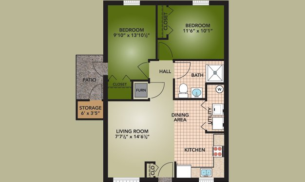 2 Bedrooms 1 Bathroom Apartment for rent at Indian Mound in Columbus, OH