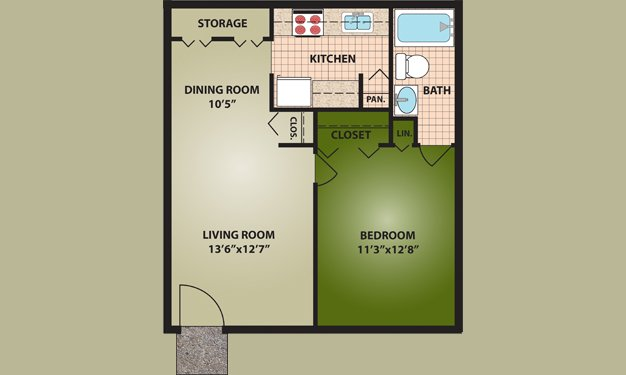 1 Bedroom 1 Bathroom Apartment for rent at Norton Village in Columbus, OH