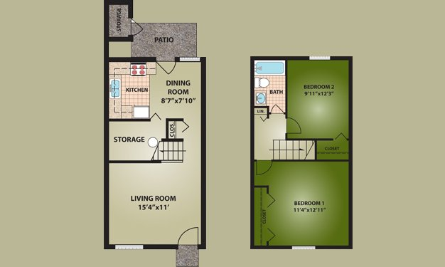 2 Bedrooms 1 Bathroom Apartment for rent at Norton Village in Columbus, OH