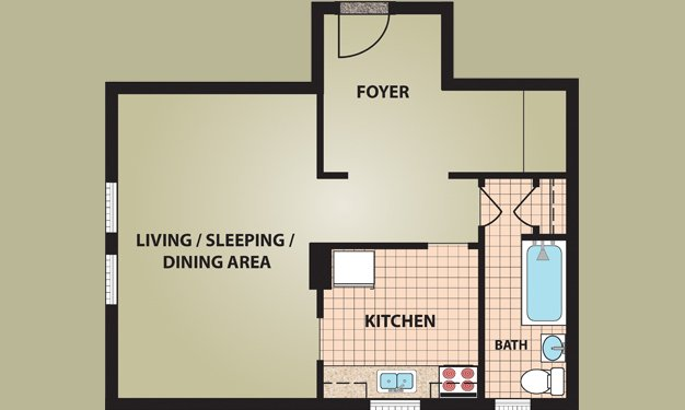 Studio 1 Bathroom Apartment for rent at Starr High Studios in Columbus, OH