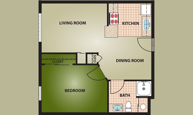 1 Bedroom 1 Bathroom Apartment for rent at The Village At Ottawa Ridge in Columbus, OH