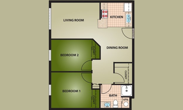 2 Bedrooms 1 Bathroom Apartment for rent at The Village At Ottawa Ridge in Columbus, OH