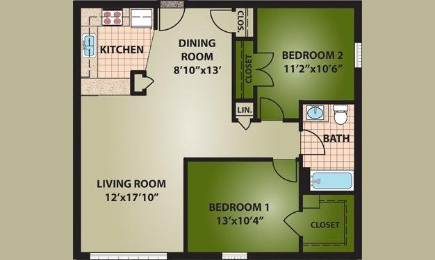 2 Bedrooms 1 Bathroom Apartment for rent at Avon View in Cincinnati, OH