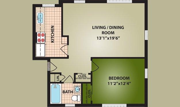1 Bedroom 1 Bathroom Apartment for rent at Glen Meadows in Cincinnati, OH