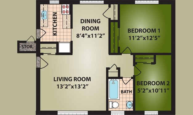 2 Bedrooms 1 Bathroom Apartment for rent at Glen Meadows in Cincinnati, OH