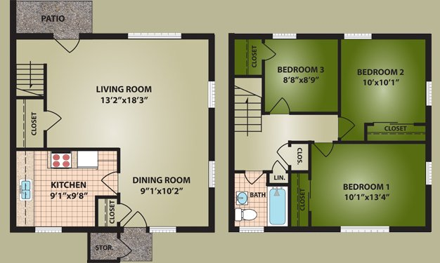 3 Bedrooms 1 Bathroom Apartment for rent at Glen Meadows in Cincinnati, OH