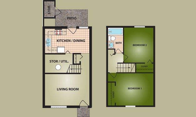 2 Bedrooms 1 Bathroom Apartment for rent at Greentree Village in Cincinnati, OH