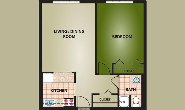 1 Bedroom 1 Bathroom Apartment for rent at Judson Terrace in Cincinnati, OH