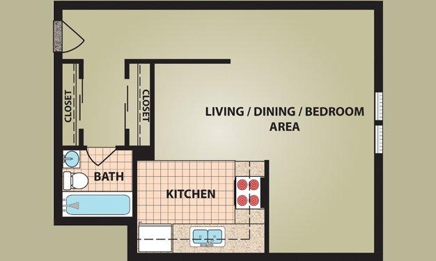 Studio 1 Bathroom Apartment for rent at Madison Villa in Cincinnati, OH