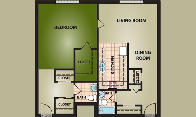 1 Bedroom 1 Bathroom Apartment for rent at Madison Villa in Cincinnati, OH