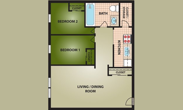 2 Bedrooms 1 Bathroom Apartment for rent at Madison Villa in Cincinnati, OH