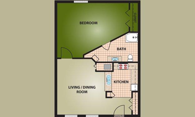 1 Bedroom 1 Bathroom Apartment for rent at Woodview Of Cincinnati in Cincinnati, OH