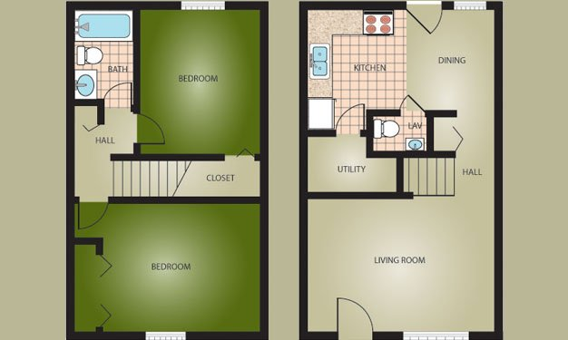 2 Bedrooms 2 Bathrooms Apartment for rent at Woodside Village in Louisville, KY