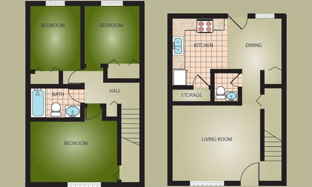 3 Bedrooms 2 Bathrooms Apartment for rent at Woodside Village in Louisville, KY