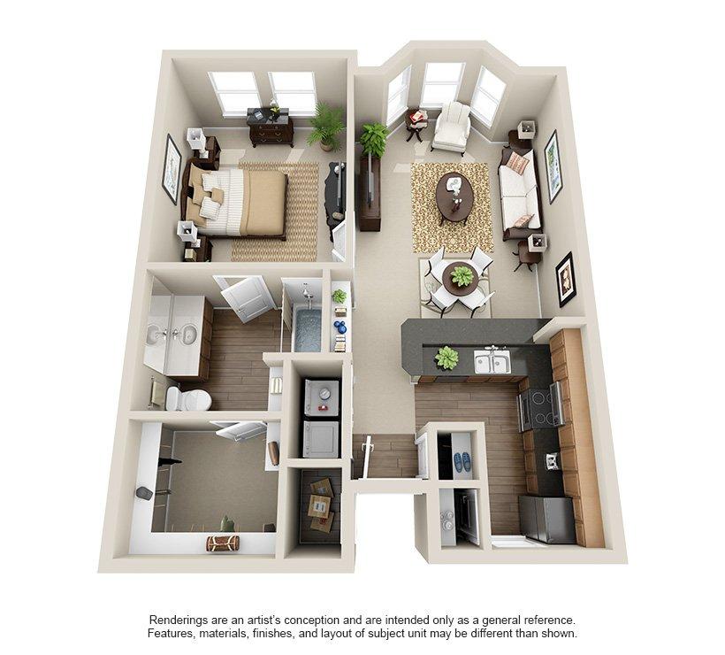1 Bedroom 1 Bathroom Apartment for rent at Rosemont At Olmos Park in San Antonio, TX