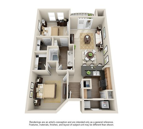 2 Bedrooms 1 Bathroom Apartment for rent at Rosemont At Olmos Park in San Antonio, TX