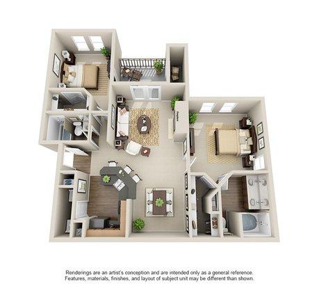 2 Bedrooms 2 Bathrooms Apartment for rent at Rosemont At Olmos Park in San Antonio, TX