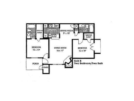 2 Bedrooms 2 Bathrooms Apartment for rent at Biltmore Park Apartments in San Antonio, TX
