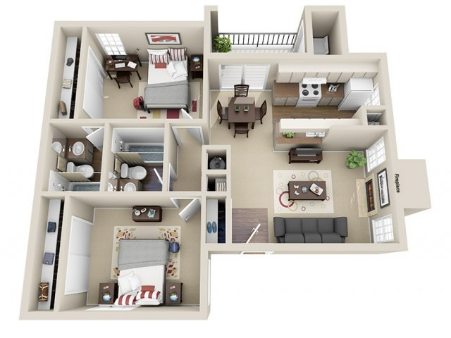 2 Bedrooms 2 Bathrooms Apartment for rent at Westchase Apartments in San Antonio, TX