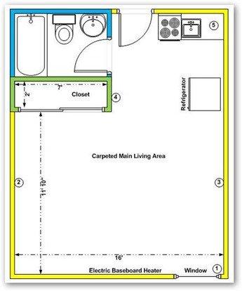Studio 1 Bathroom Apartment for rent at University Studio Apartments in Albuquerque, NM
