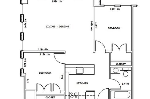 2 Bedrooms 1 Bathroom Apartment for rent at Washington Plaza in Madison, WI