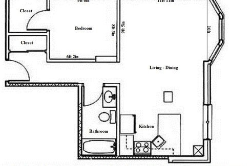 1 Bedroom 1 Bathroom Apartment for rent at Butler Plaza in Madison, WI