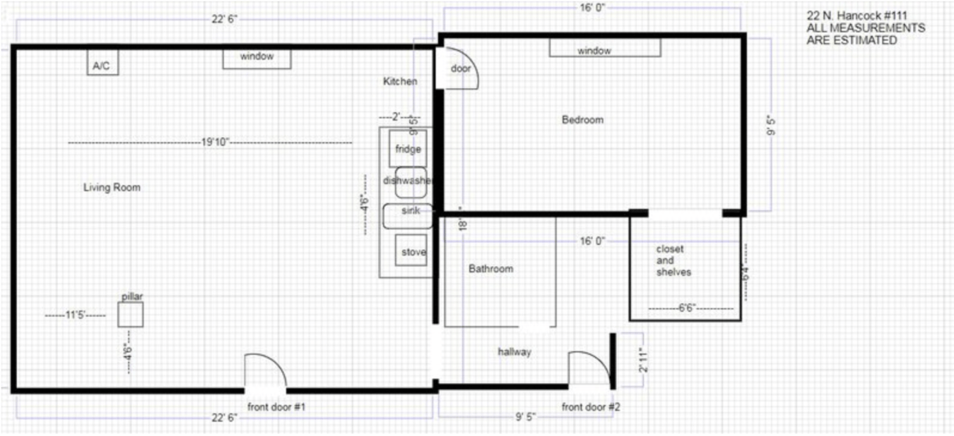1 Bedroom 1 Bathroom Apartment for rent at 22 N Hancock St in Madison, WI