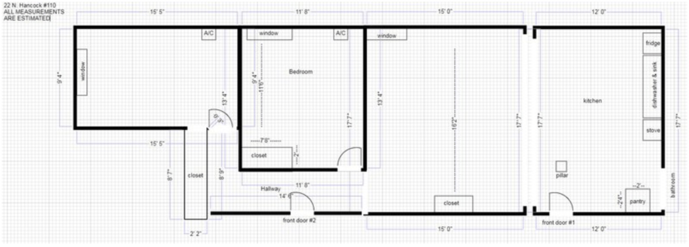 2 Bedrooms 1 Bathroom Apartment for rent at 22 N Hancock St in Madison, WI