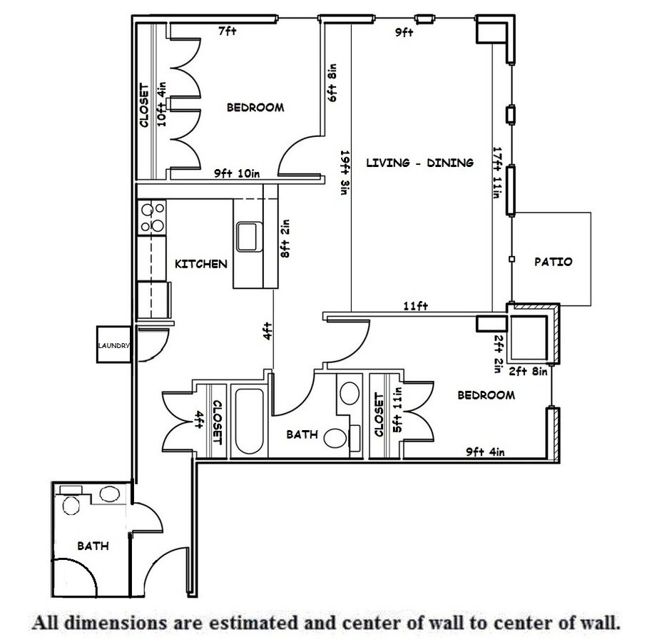 2 Bedrooms 2 Bathrooms Apartment for rent at Washington Plaza in Madison, WI