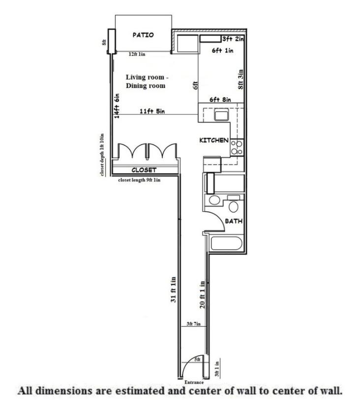 Studio 1 Bathroom Apartment for rent at Washington Plaza in Madison, WI