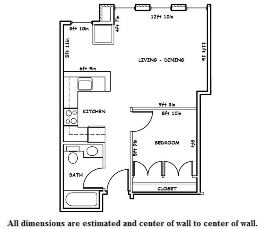 1 Bedroom 1 Bathroom Apartment for rent at Washington Plaza in Madison, WI